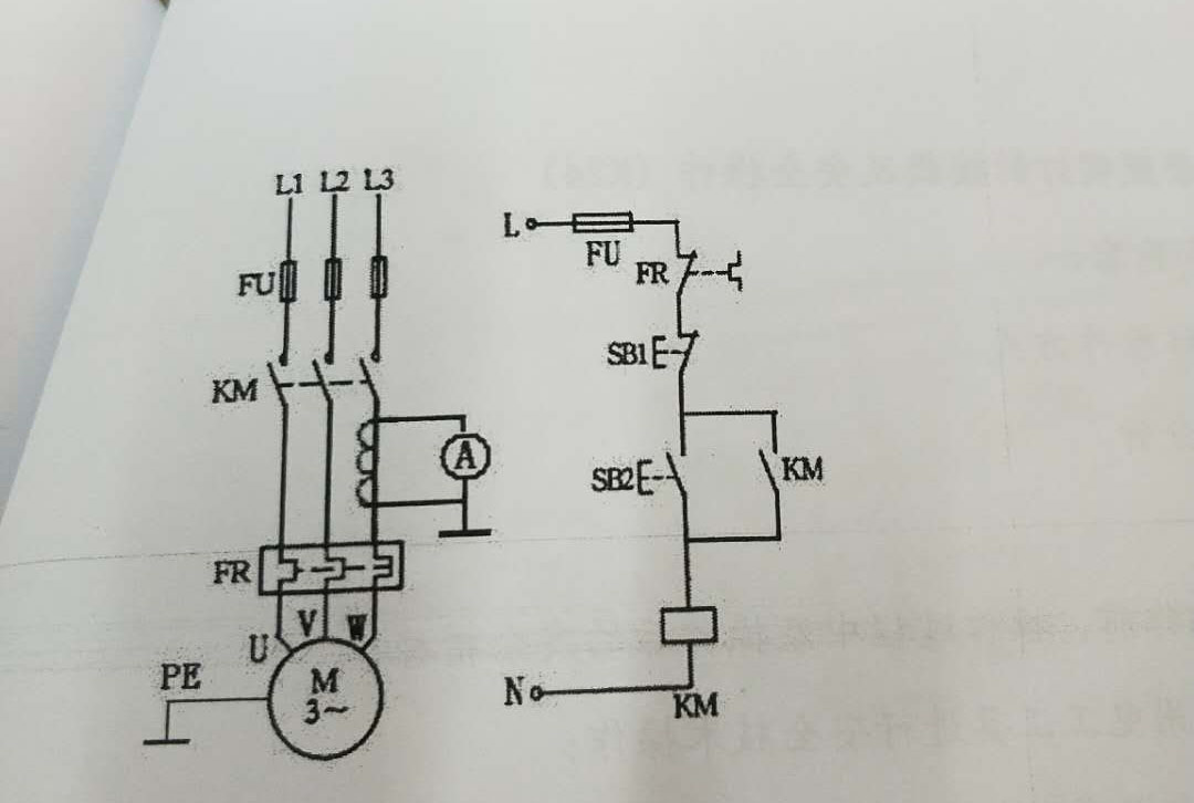 试题一,三相异步电动机单向连续运转(带点动控制)的接线及安全操作
